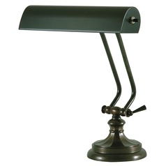 House Of Troy Piano/desk Mahogany Bronze Piano / Banker Lamp