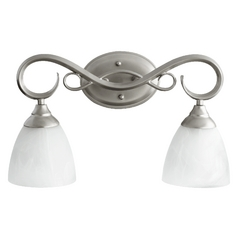 Quorum Lighting Powell Classic Nickel Bathroom Light