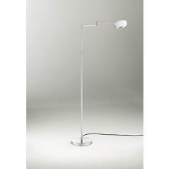 Glanz Brushed Aluminum LED Swing Arm Lamp