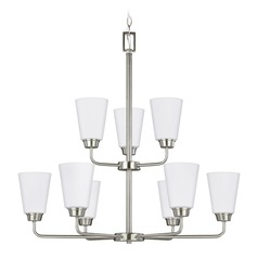 Sea Gull Lighting Kerrville Brushed Nickel Chandelier