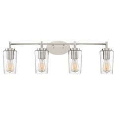 Industrial Edison Bulb Bathroom Light Brushed Nickel 32.5-Inch by Quoizel Lighting