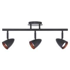 Semi-Flush Adjustable 3-Light Directional Spot Light - Bronze