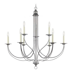 Chandelier in Weathered Pewter Finish