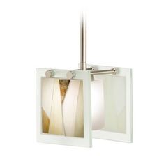 Kichler Lighting Khione Brushed Nickel Mini-Pendant Light with Square Shade