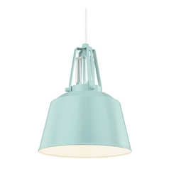 Feiss Lighting Freemont Hi Gloss Blue Mini-Pendant Light