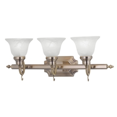 Livex Lighting French Regency Antique Brass Bathroom Light