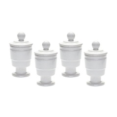 White Polar Filled Votive - Set Of 4