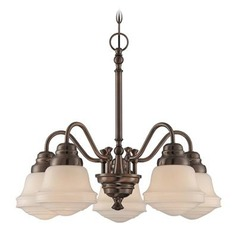 Lite Source Towne Antique Copper Chandelier