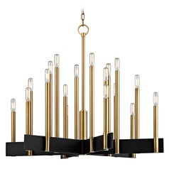 Hudson Valley Lighting Abrams Aged Brass Chandelier