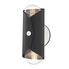 Mid-Century Modern Sconce Polished Nickel Mitzi Immo by Hudson Valley