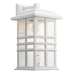 Kichler Lighting Beacon Large Square Textured White Outdoor Wall Light