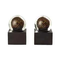 Sterling Lighting Decorative Globe Bookends  93-9274
