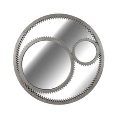 Gear Round 34-Inch Mirror