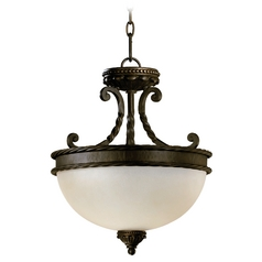 Quorum Lighting Alameda Oiled Bronze Pendant Light