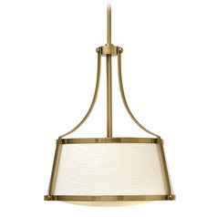 Hinkley Lighting Charlotte Brushed Caramel Pendant Light with Conical Shade