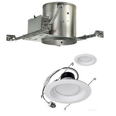 12-Watt Dimmable LED 6-Inch Recessed Lighting Kit for New Construction