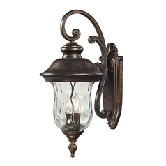 Outdoor Wall Light with Clear Glass in Regal Bronze Finish