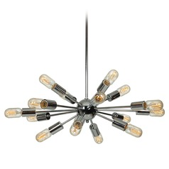 Mid-Century Modern Pendant Light Chrome by Access Lighting