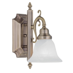 Livex Lighting French Regency Antique Brass Sconce
