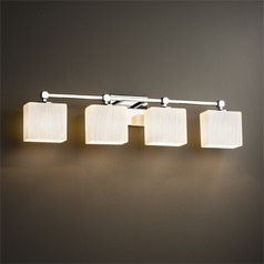 Justice Design Group Tetra Polished Chrome Bathroom Light