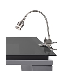 Adesso Home Prospect Brushed Steel LED Clip-On Lamp