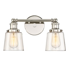 Quoizel Lighting Union Polished Nickel Bathroom Light