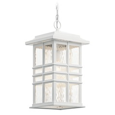Kichler Lighting Beacon Square Textured White Outdoor Hanging Light