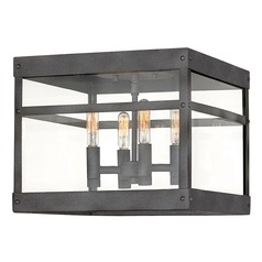 Hinkley Lighting Porter Aged Zinc Close To Ceiling Light