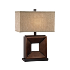 Modern Table Lamp in Antique Bronze/ebony Finish
