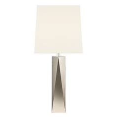 Sonneman Lighting Facet Polished Nickel Table Lamp with Square Shade