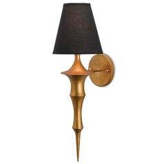 Currey and Company Canto Dark Antique Gold Leaf Sconce