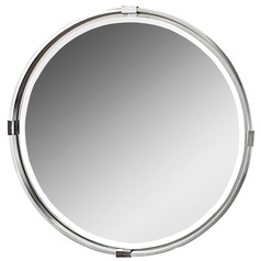 Uttermost Tazlina Brushed Nickel Round Mirror