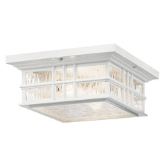 Kichler Lighting Beacon Square 2-Light Textured White Close to Ceiling Light