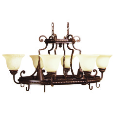 Craftmade Riata Aged Bronze Textured Chandelier