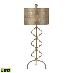 Dimond Lighting Gold Leaf LED Table Lamp with Drum Shade