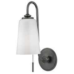 Glover 1 Light Switched Pull Chain Sconce - Historic Nickel