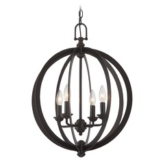 Lite Source Oria Dark Bronze Pendant Light