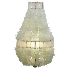Currey and Company Zucchero Silver Granello/seaglass Sconce