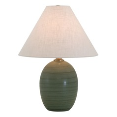 House Of Troy Scatchard Green Matte Table Lamp with Conical Shade