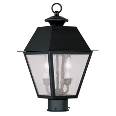 Livex Lighting Mansfield Black Post Light