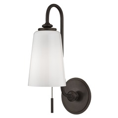 Glover 1 Light Switched Pull Chain Sconce - Old Bronze