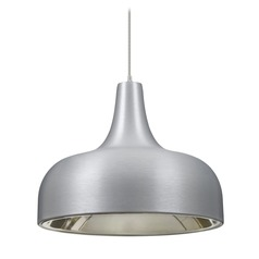 Besa Lighting Persia Satin Nickel Mini-Pendant Light with Urn Shade