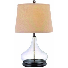 Lite Source Lighting Hendrick Dark Bronze Table Lamp with Drum Shade
