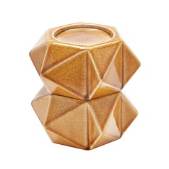 Large Ceramic Star Candle Holders - Honey. Set Of 2