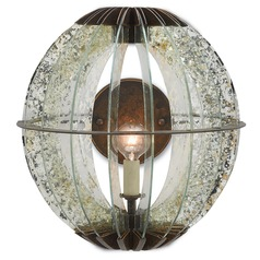 Currey and Company Zanzibar Light Bronze Gold/raj Mirror Sconce