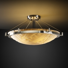Justice Design Group Porcelina Collection Semi-Flushmount Light