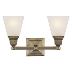 Livex Lighting Mission Antique Brass Bathroom Light