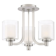 Quoizel Lighting Kolt Brushed Nickel Semi-Flushmount Light