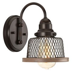 Farmhouse Sconce Bronze Tilley by Progress Lighting