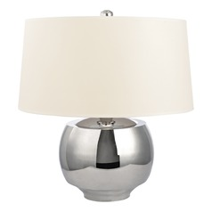Holden Polished Nickel Table Lamp with Drum Shade